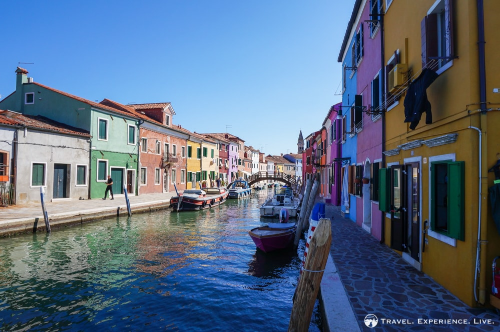Visit Burano: Colorful canal in Burano