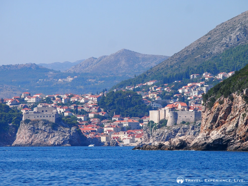 Three Days in Dubrovnik: Dubrovnik seen from Lokrum Island
