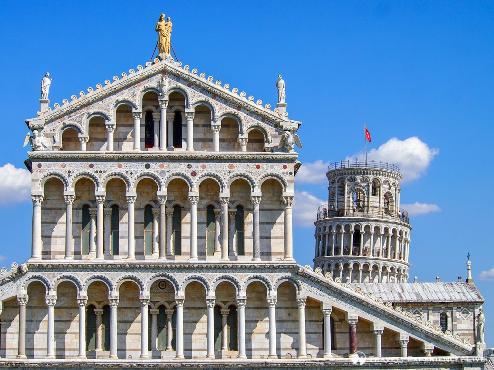 Day Trip to Pisa: Duomo and Leaning Tower seen from the Battistero