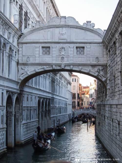 Gondola under the Bridge of Sighs, Venice