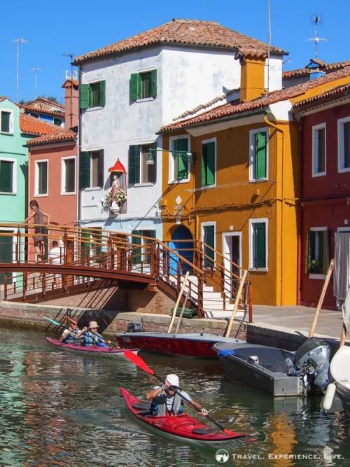 Kayaking in Burano, Italy