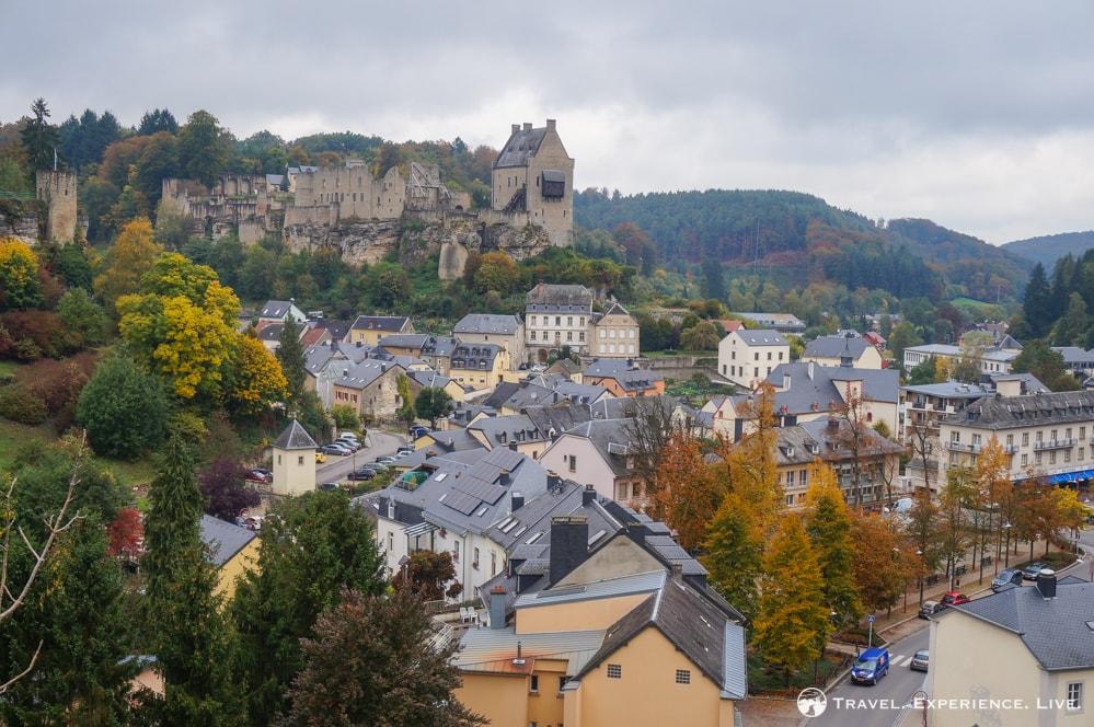 Larochette Castle in Larochette, Luxembourg