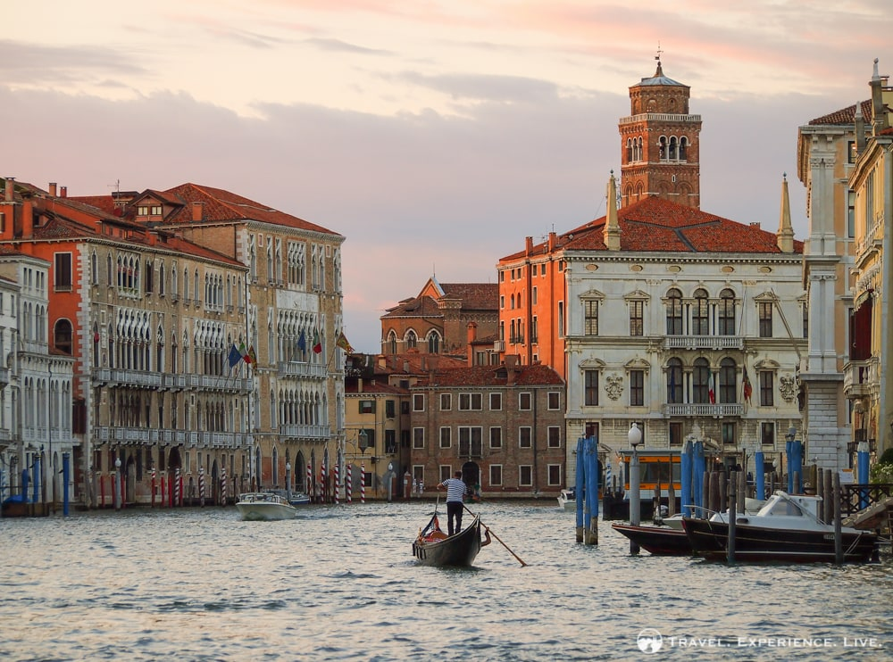 Venice photos: Sunset over the Grand Canal in Venice, Italy