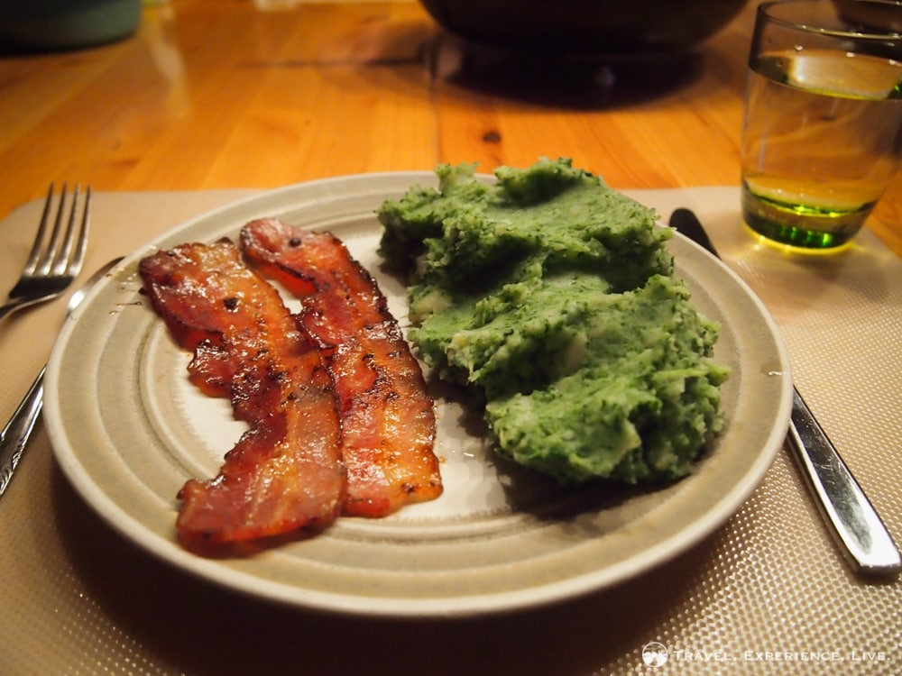 Belgian dishes: Bacon and stoemp