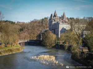 Castle along the Ourthe River, Durbuy