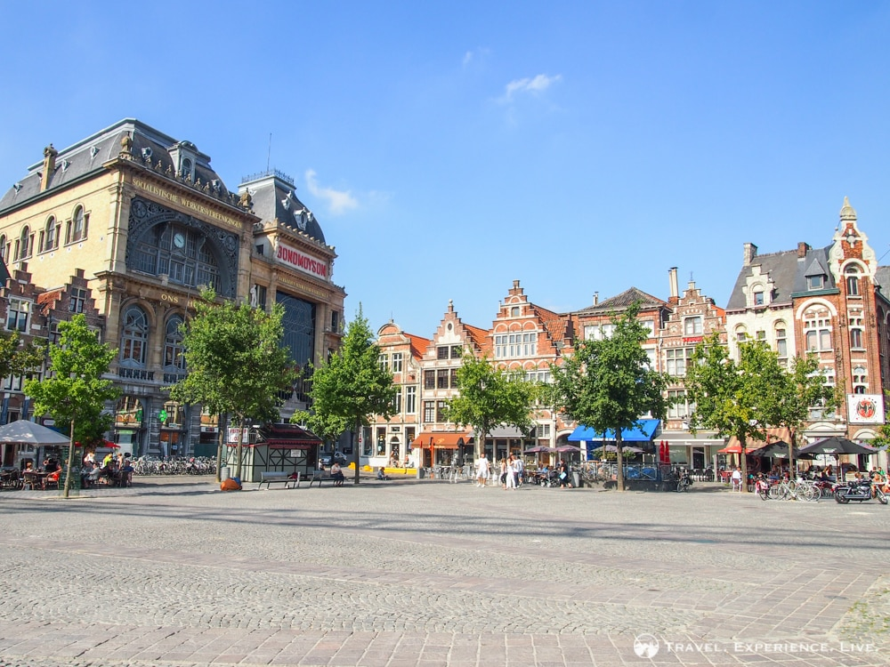 Visiting Ghent, Belgium: Vrijdagmarkt in Ghent, Belgium