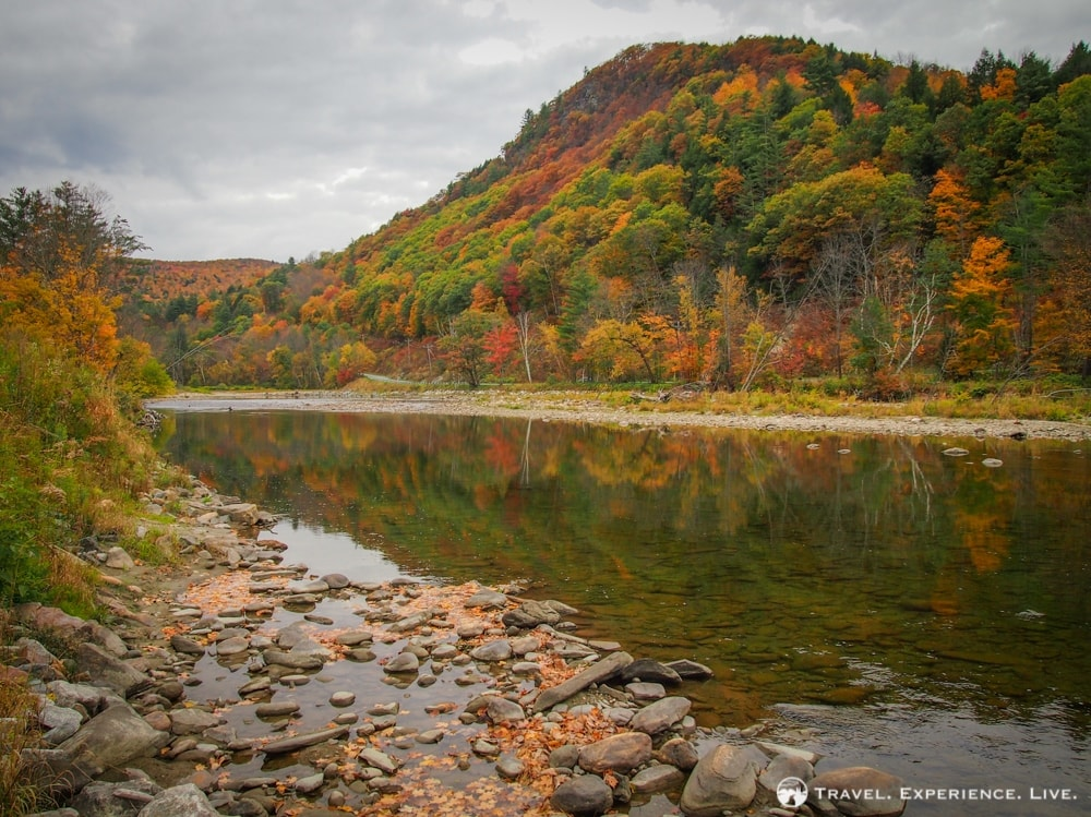 Fall foliage in the Green Mountains, Vermont