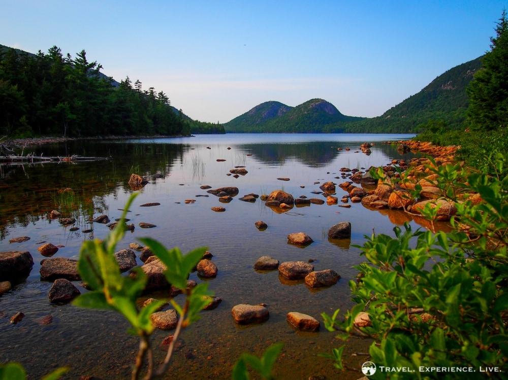 Bubbles Mountain behind Jordan Pond, Acadia National Park, Maine