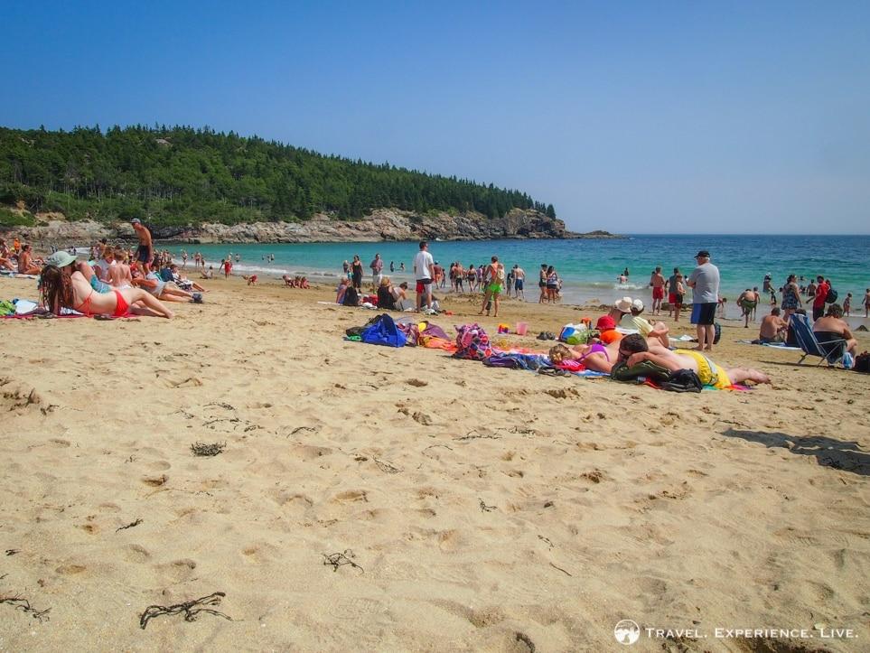 Sand Beach in Acadia National Park, Maine