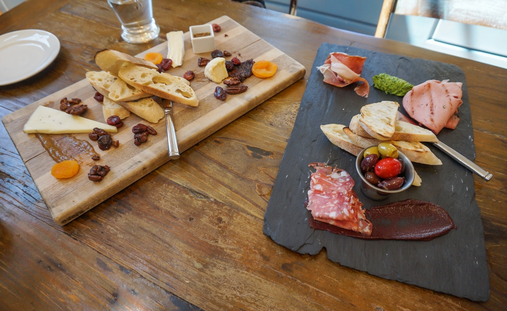 Cheese and meat boards, Pippin Hill Farm