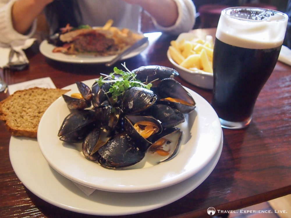 Mussels and stout, Ireland