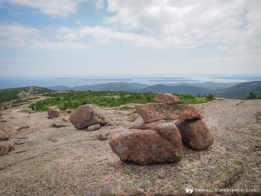 Cairns on Cadillac Mountain, Acadia National Park
