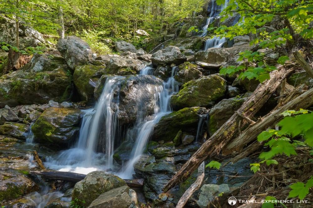 Part of Dark Hollow Falls in Shenandoah National Park