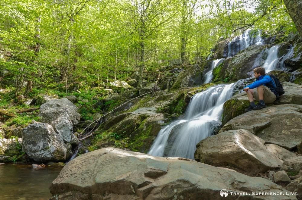 Scenic Dark Hollow Falls, Virginia