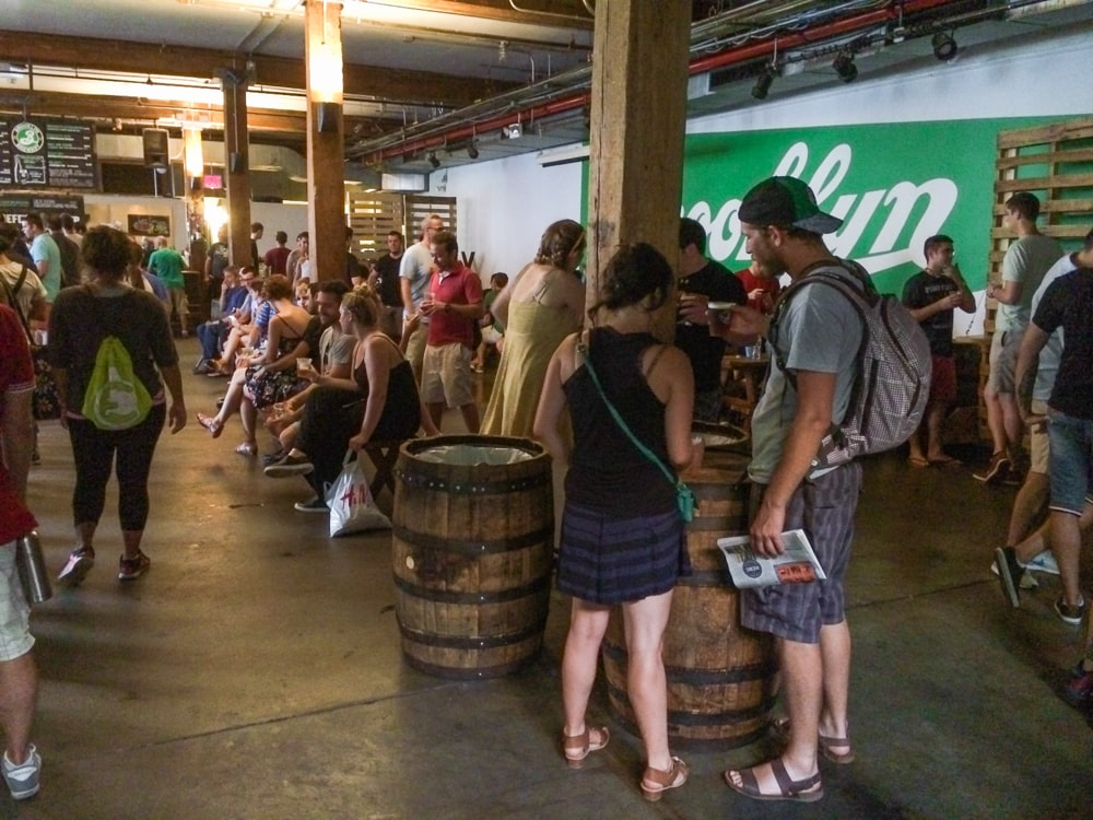 Brooklyn Brewery tasting room
