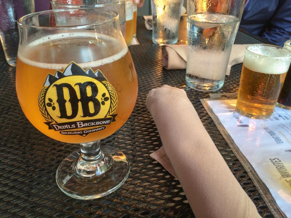 Craft beer at Devils Backbone Brewing Company