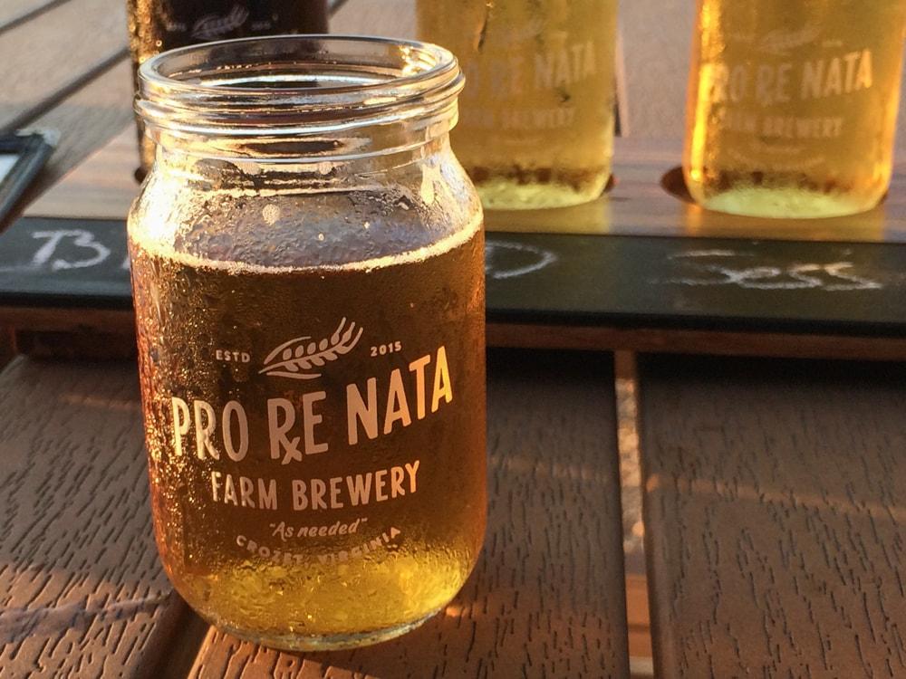 Craft beer at Pro Re Nata Farm Brewery