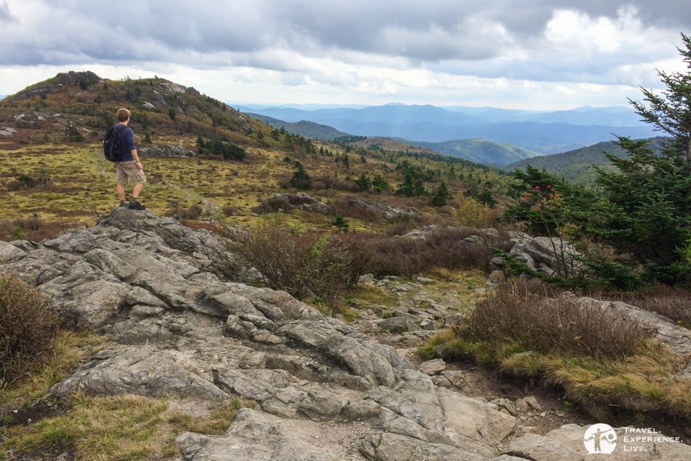 Admiring the mountain views in Mount Rogers National Recreation Area, Virginia