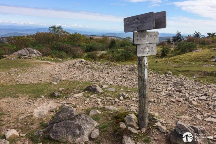 Appalachian Trail sign, Mount Rogers National Recreation Area