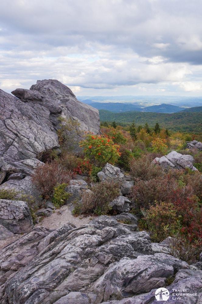 Huge boulders in Grayson Highlands