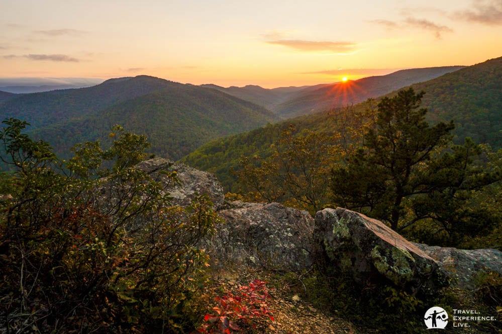 Sunset on the Blue Ridge Parkway, Virginia