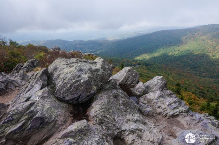 View from Big Pinnacle, hiking in Grayson Highlands State Park