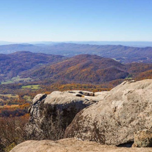 Blue Ridge Mountains from Buzzards Roost, Peaks of Otter