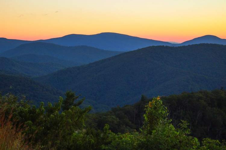 Dawn in Shenandoah National Park