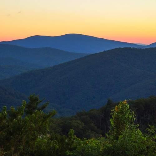 Dawn in Shenandoah National Park
