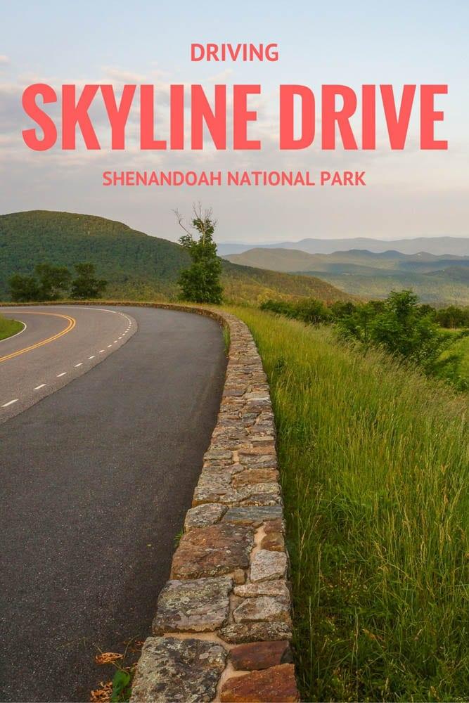 Driving Skyline Drive, Shenandoah National Park