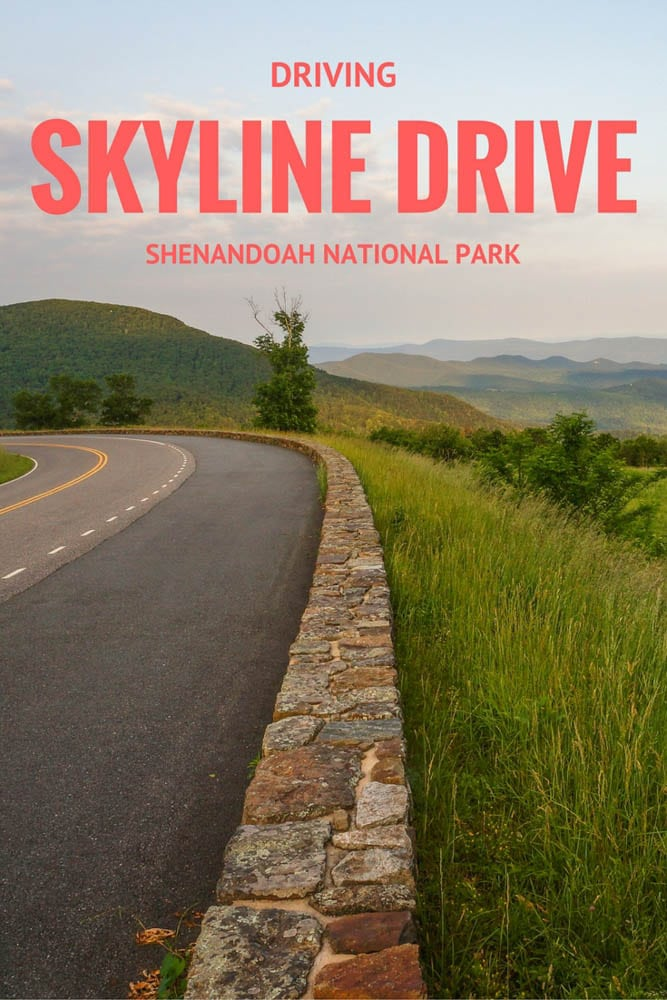 Driving Skyline Drive, Shenandoah National Park