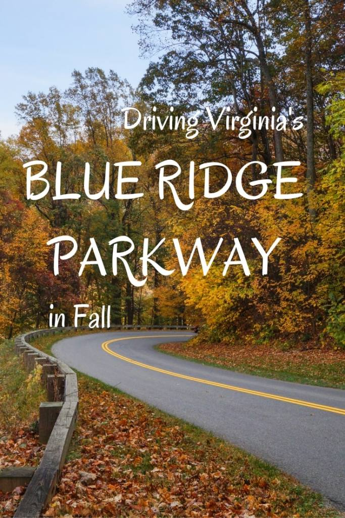 Driving the Blue Ridge Parkway in Fall, Virginia