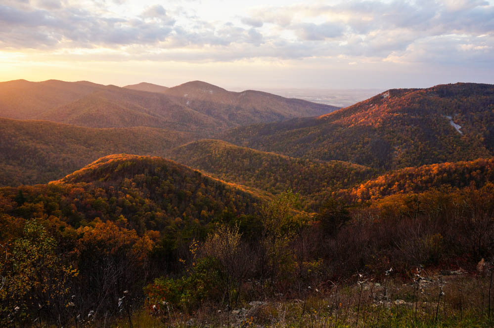 Dusk in Shenandoah National Park