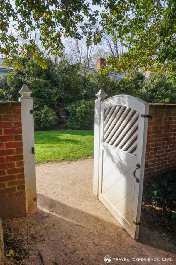 Gate at the UVA gardens