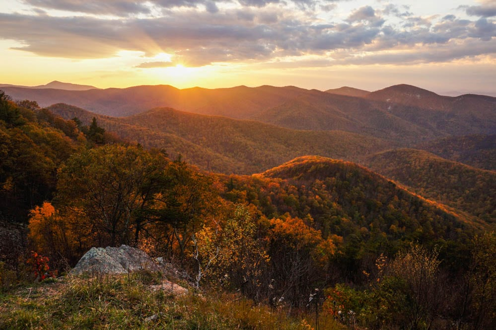 Sunset from a Skyline Drive overlook