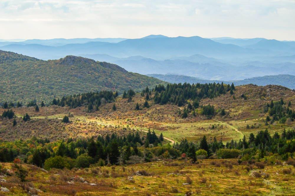 Landscape in Grayson Highlands, Virginia