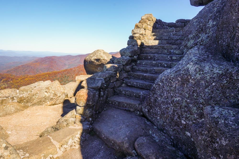Stone staircase at Sharp Top, Peaks of Otter