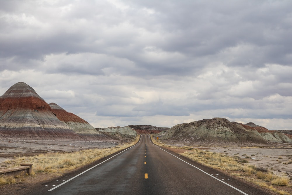 Road in Petrified Forest National Park, Arizona