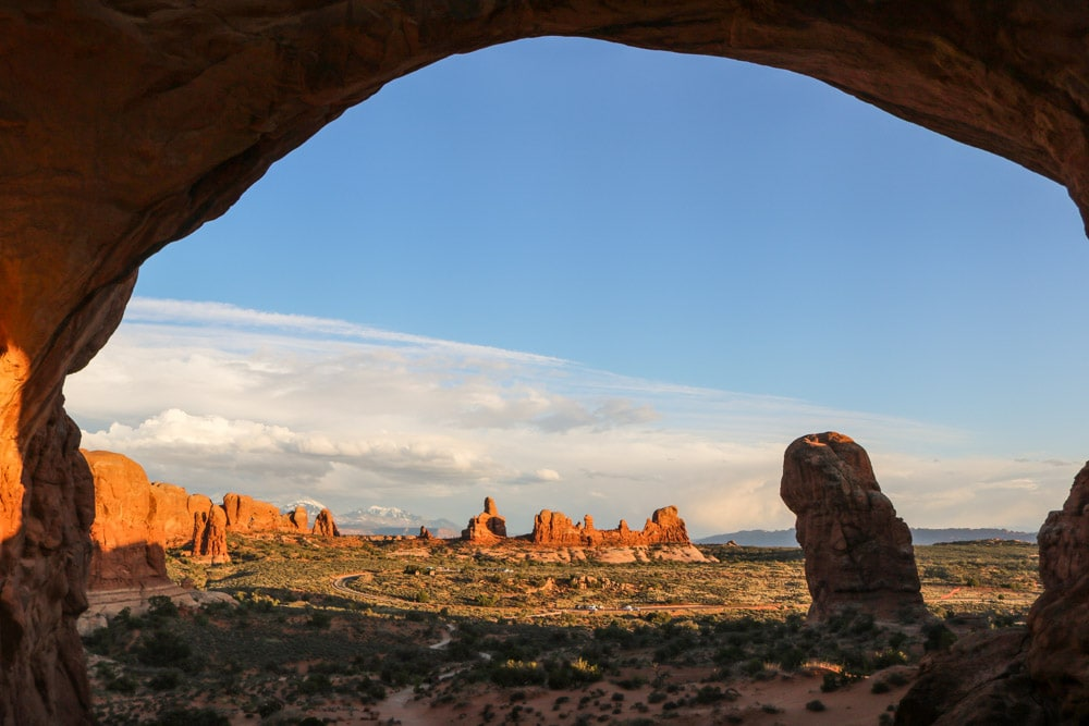 View from Double Arch, Arches National Park, Utah