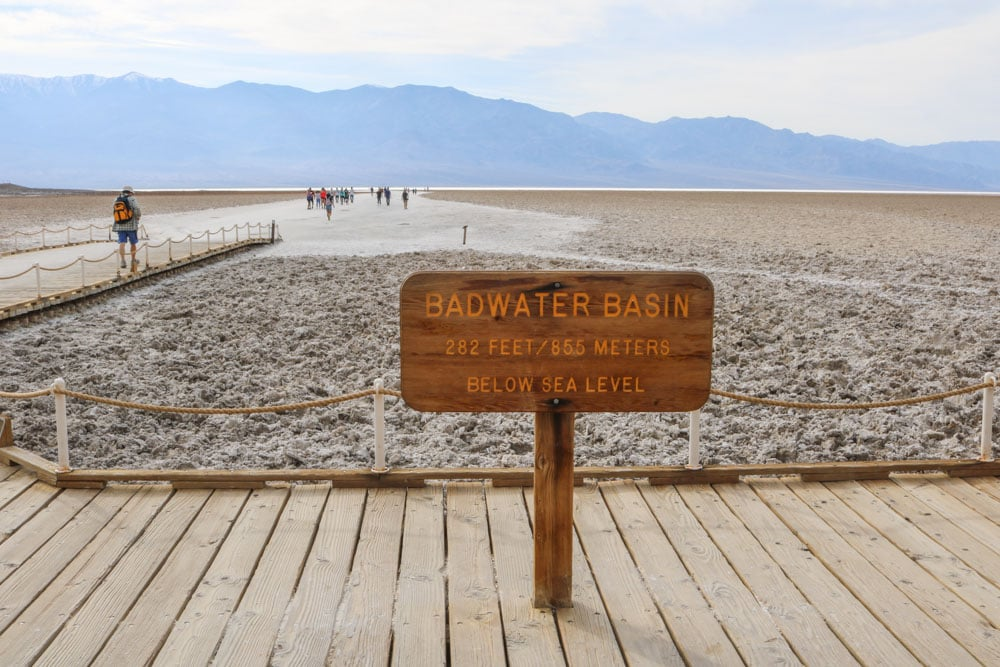 Badwater Basin in Death Valley National Park, California