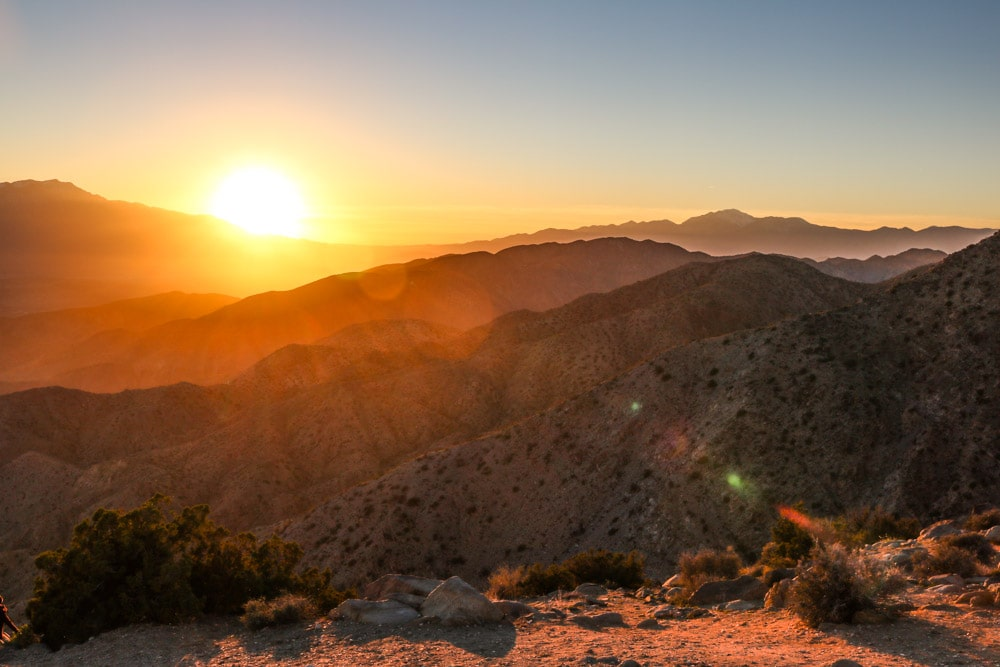 Sunset at Keys View, Joshua Tree National Park