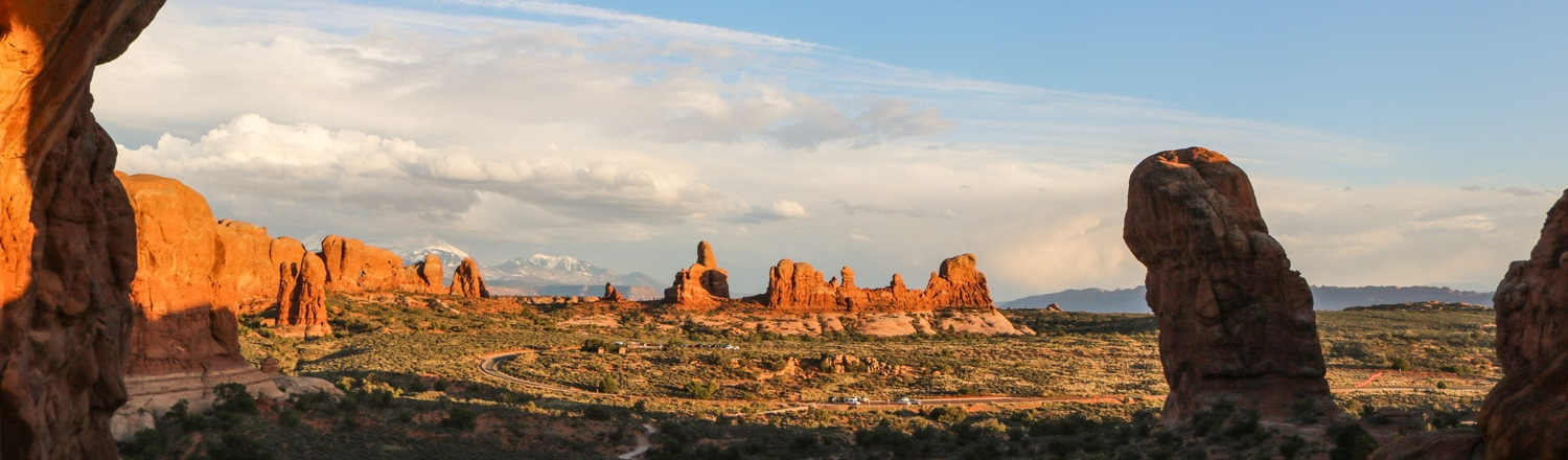 View from Double Arch, Arches National Park