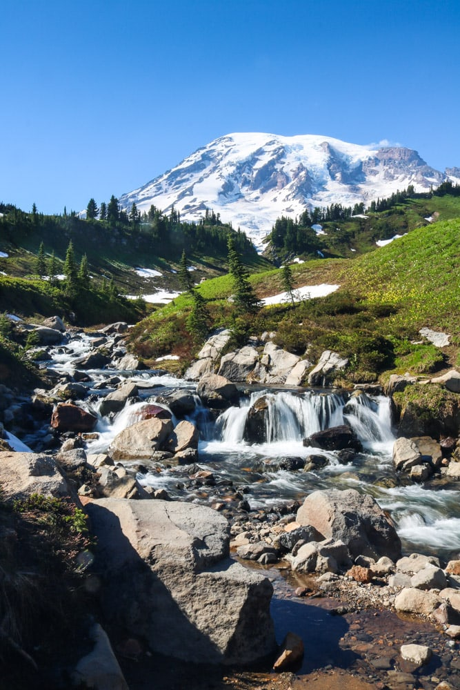 Edith Creek in Mount Rainier National Park