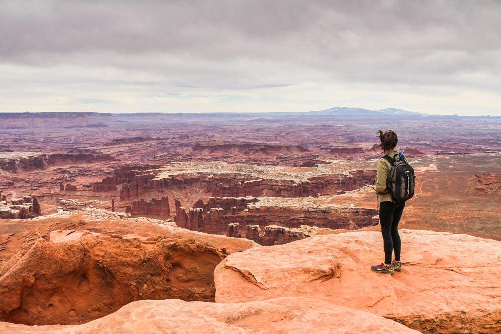 Hiker in Canyonlands National Park, Utah