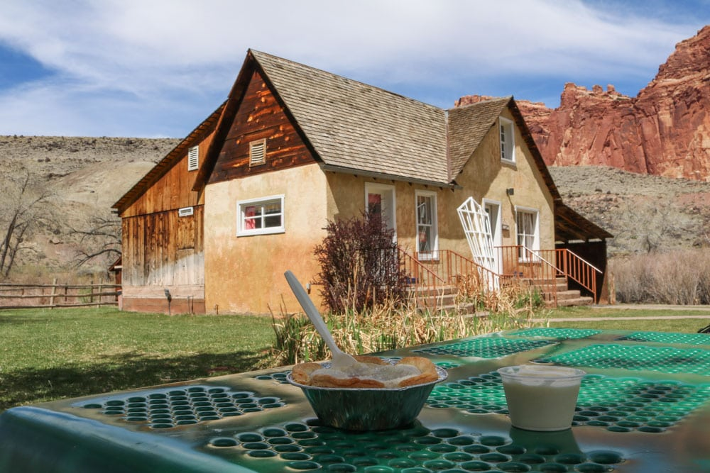 Pie and ice cream, Gifford House, Capitol Reef National Park
