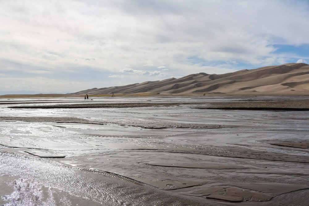 Medano Creek and sand dunes, Great Sand Dunes National Park