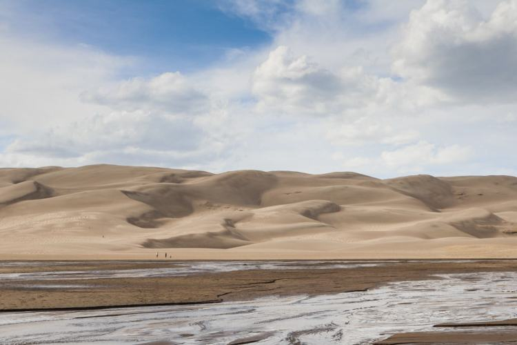 Sand dunes and Medano Creek, Great Sand Dunes National Park