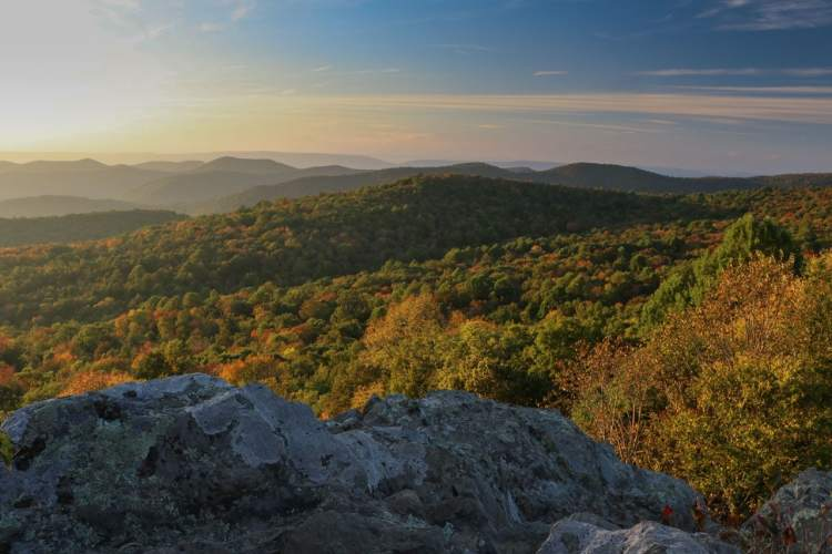 Early-Fall Sunset in Shenandoah National Park, Virginia