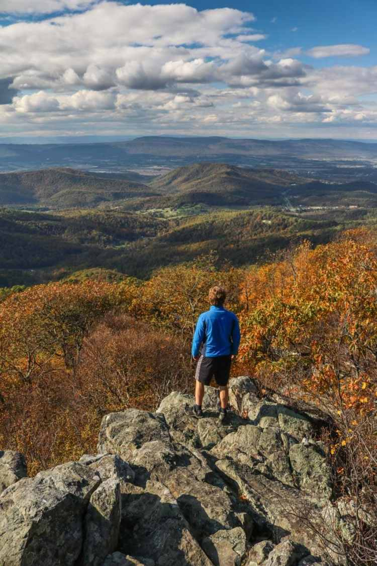 Hiker at Hightop Mountain - Best Shenandoah National Park Day Hikes