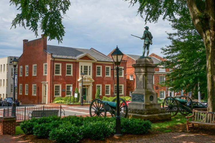 Court Square in Charlottesville, Virginia - National Park Gateway Towns